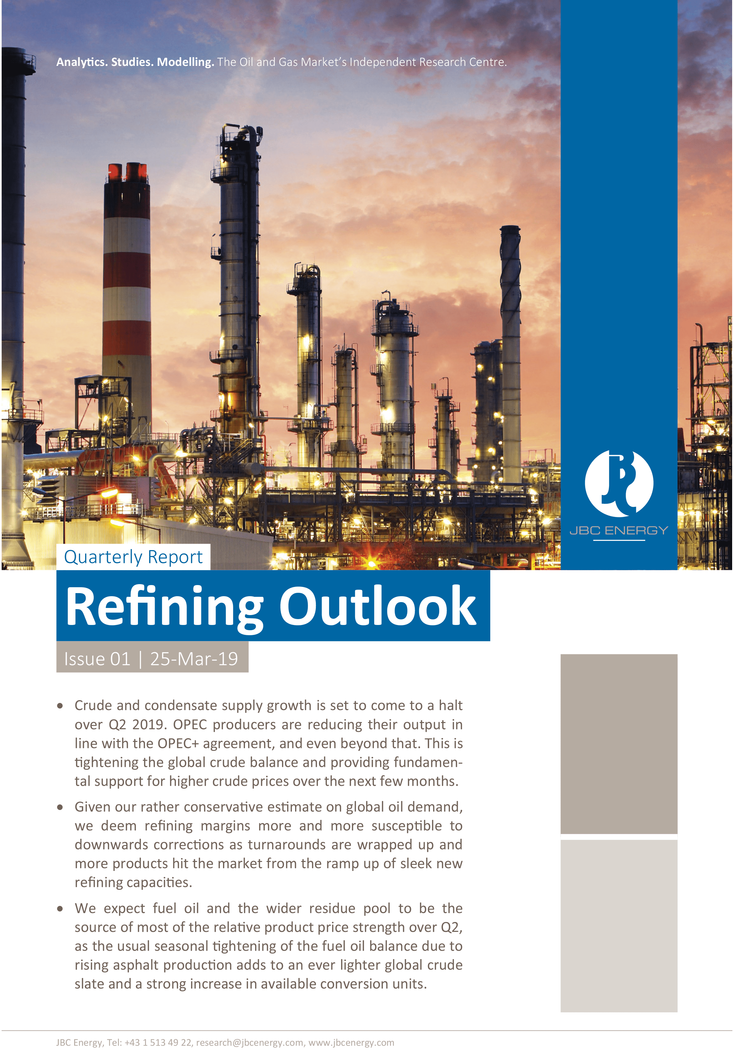 Quarterly refining outlook